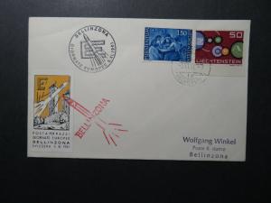 Leichtenstein 1961 BELLINZONA Rocket Cover - Z12566