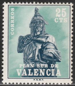 SPAIN-VALENCIA 8, (EDIFIL), POSTAL TAX. MINT, NH. F-VF. (94)