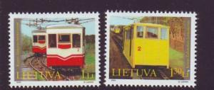 Lithuania Sc 778-9 2004 Funicular Railway stamp set mint NH