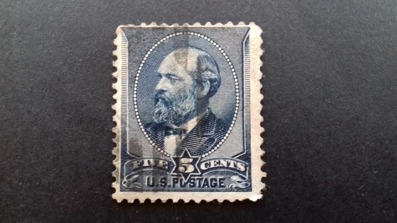 United States 1888 James A. Garfield 5 cents used