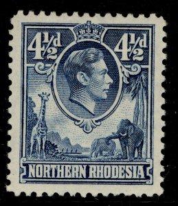 NORTHERN RHODESIA GVI SG37, 4½d blue, M MINT.