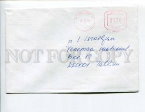 413097 ESTONIA 1994 year Postage meter Tallinn real posted COVER