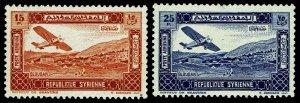 1934 Syria #C63-64 Airmail - Unused NG - VF - CV$70.00 (ESP#4149)