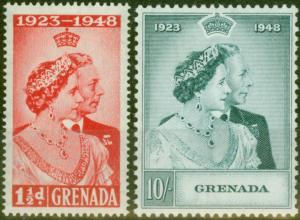 Grenada 1948 RSW set of 2 SG166-167 Fine Lightly Mtd Mint