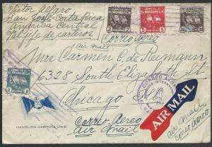 SALVADOR 1936 airmail cover to Chicago.....................................27438