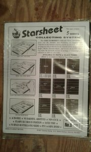 G&K Starsheet 2 sided Black Stockpages with 7 pockets --new/sealed package of 5