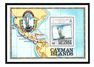Cayman Is 526 MNH 1984 Lloyds List S/S