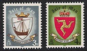Isle of Man Viking Longship Three Legs Emblem 2v imprint '1979' 1979 MNH