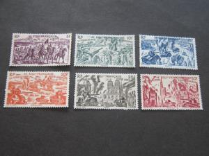 French Equatorial Africa 1946 Sc C25-30 set MH