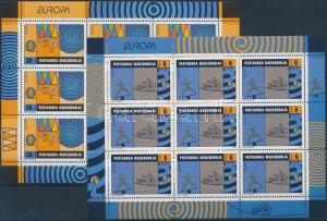 Makedonien stamp Europa CEPT minisheet set MNH 2002 Mi 254-255 WS176060