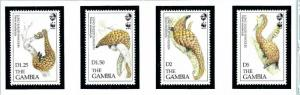 Gambia 1362-65 MNH 1993 Long-Tailed Pangolin