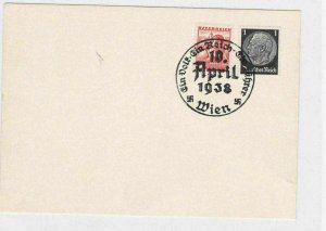 1938 PROPAGANDA REUNIFICATION AUSTRIA WITH GERMAN REICH POSTCARD   R2989