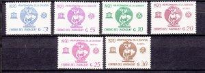 J27654 1971 paraguay set mnh #1377-83 unesco
