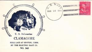 1944, USS Clamagore, SS-343, Keel Laying (N2002)