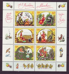 Z765 JLstamps 1984 germany DDR s/s mnh #2451 fairytale