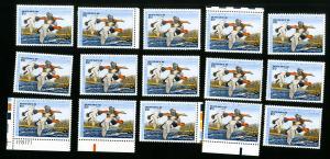 US Stamps # RW54 VF Lot of 15 Face Value $150 OG NH Scott Value $262.00