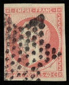 France, 1853-1861, Emperor Napoléon III, 40 c, MC #15 (T-6676)