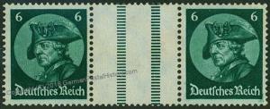 Germany 1933 Frederick Fridericus Michel WZ9 Se-Tenant Zusammendruck 53284