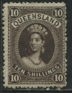 Queensland QV 1882 10/ brown mint o.g.