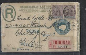 TRINIDAD   (P2710B) 1904  QV 2 1/2X2  ON RLE SENT TO  USA