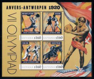 [78168] Guyana 2010 Olympic Games Antwerp Boxing Fencing Sheet MNH