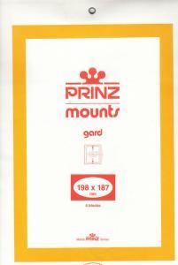 PRINZ BLACK MOUNTS 198X187 (4) RETAIL PRICE $10.50