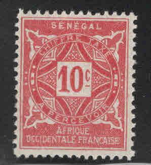 Senegal Scott J13 MH* 1914 postage due
