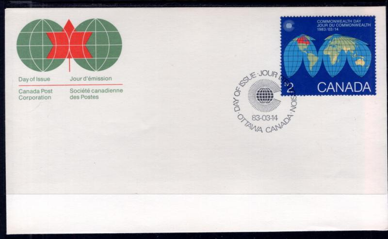 Canada 977 Commonwealth Day Canada Post U/A FDC
