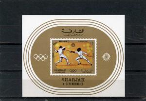 SHARJAH 1972 SPORTS/SUMMER OLYMPIC GAMES MUNICH S/S MNH