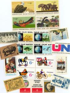 U.S. 1970 Commemorative Year Set 24 MNH Stamps