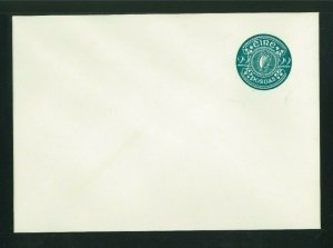 Ireland 1982 blue green 22p Postal Stationery Envelope, MacDonnell Whyte PSE13