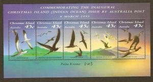 Christmas Island #349f NH Seabirds SS