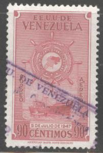 Venezuela  Scott C266 Used 90c airmail stamp