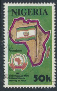 Nigeria  Sc# 580 Used Freedom Heads of State Meeting   see details & scan