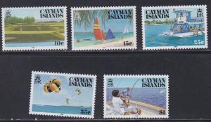 Cayman Islands # 574-578, Tourism, Water Sports - Golf, NH, 1/2 Cat,