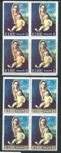 Ireland #365-66 Christmas Blocks of 4 Plants  (MNH) CV $7.60