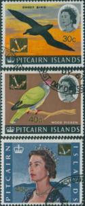 Pitcairn Islands 1967 SG79-81 Birds QEII FU
