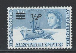 British Antarctic Territory 1971 Surcharge 1/2p on 1/2p Scott # 25 MH