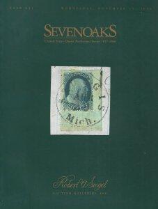 Sevenoaks, U.S. Stamps 1857-1866, Robert A. Siegel, Sale 831, Nov. 15, 2000