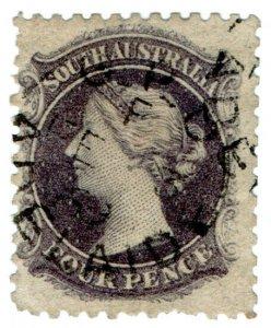 (I.B) Australia Postal : South Australia 4d (SG 71)