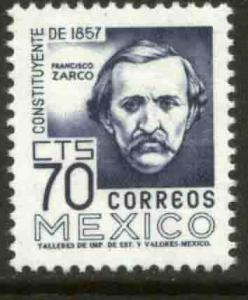 MEXICO 1093, 70c 1950 Defin 9th Issue Unwmkd Fosfo Glazed. MINT, NH- VF.