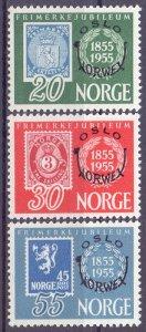 Norway. 1955. 393-95. Stamp on stamp. MNH.