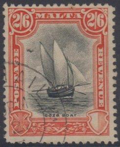BC MALTA 1926-27 GOO FISHING BOAT Sc 144 KEY VALUE USED SCV$60.00