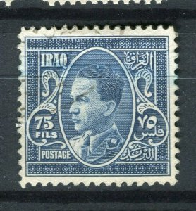 IRAQ; 1934 early Ghazi issue used 75f. value