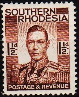 Southern Rhodesia. 1937 1 1/2d S.G.42 Unmounted Mint
