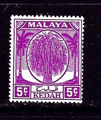 Malaya-Kedah 65 Lightly Hinged 1952 issue