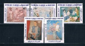 Mauritania C207-11 Used set Picasso paintings 1981 (HV0168)