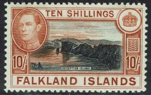 FALKLAND ISLANDS 1938 KGVI DECEPTION ISLAND 10/-