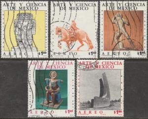 MEXICO C527C531 ART AND SCIENCE 1976 CPLT USED SET (707)