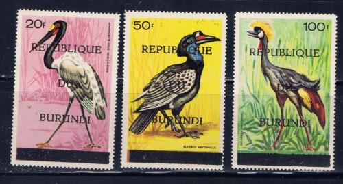 Burundi 182-84 Never Hinged 1967 High Values of Bird set